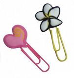 Flower-shaped silicone paper clip