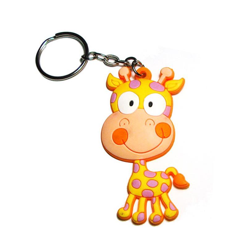 卡通动物硅胶钥匙扣