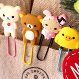 Cartoon silicone bookmark